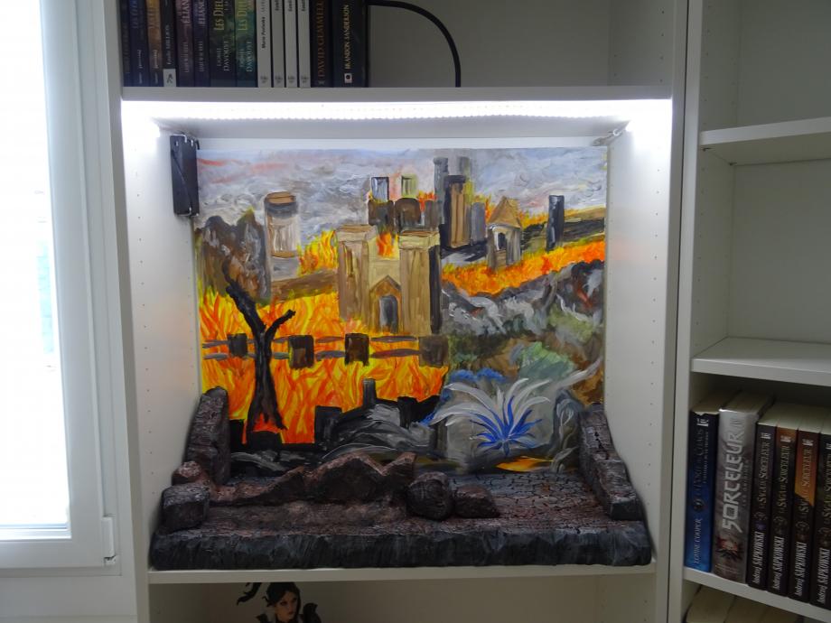 premier diorama terminé avec éclairage!!