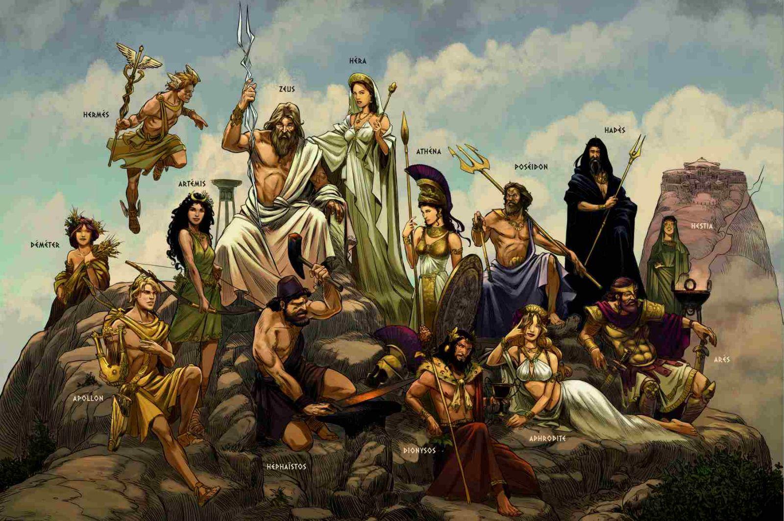 MYTHOLOGIE-les-dieux