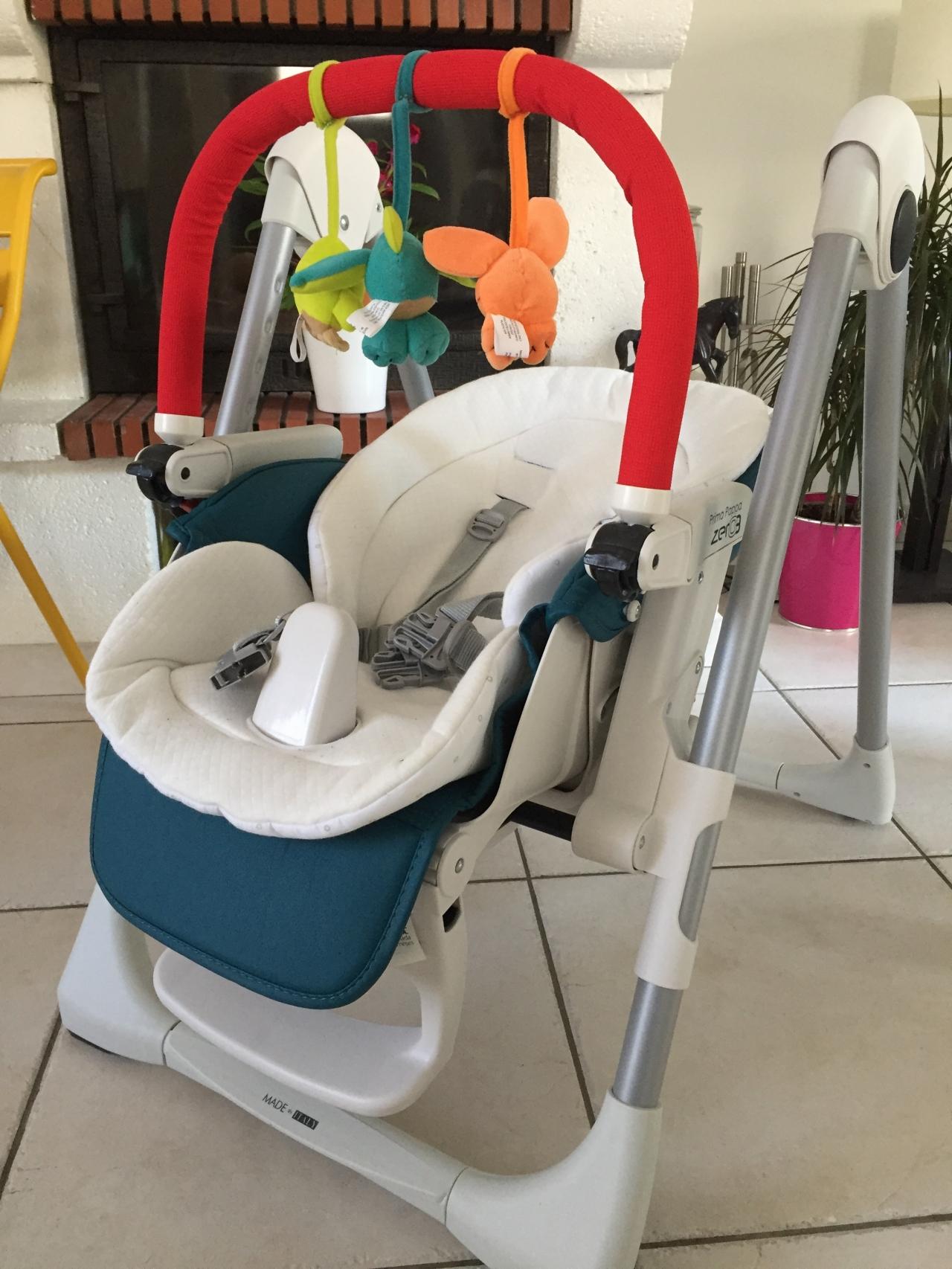 Test - Chaise Haute Transat Prima PAPPA ZERO6 - Peg Perego - Pères