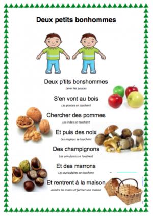 """Résultat de recherche d'images pour """"comptine deux petits bonshommes"""""""