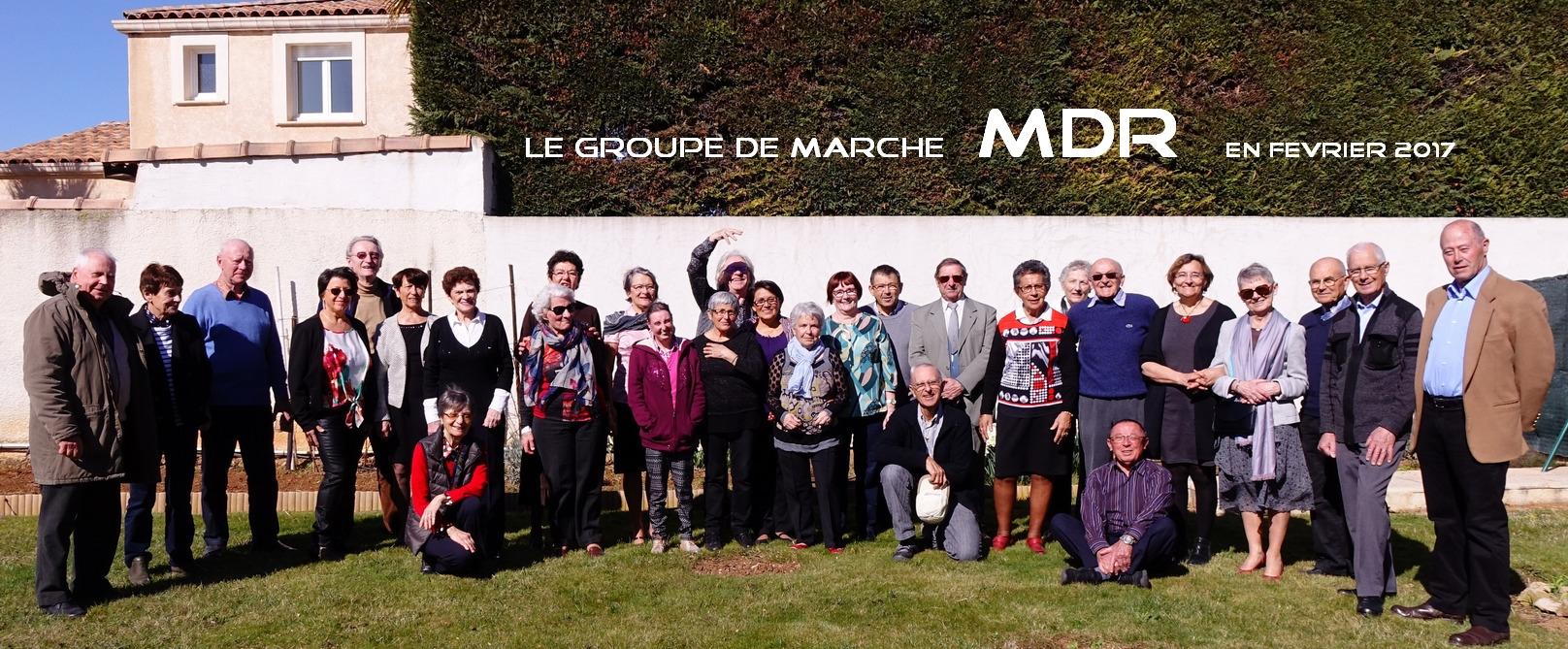 groupe  MDR  : Marche-Donnez-et-Randonnez de Lunel