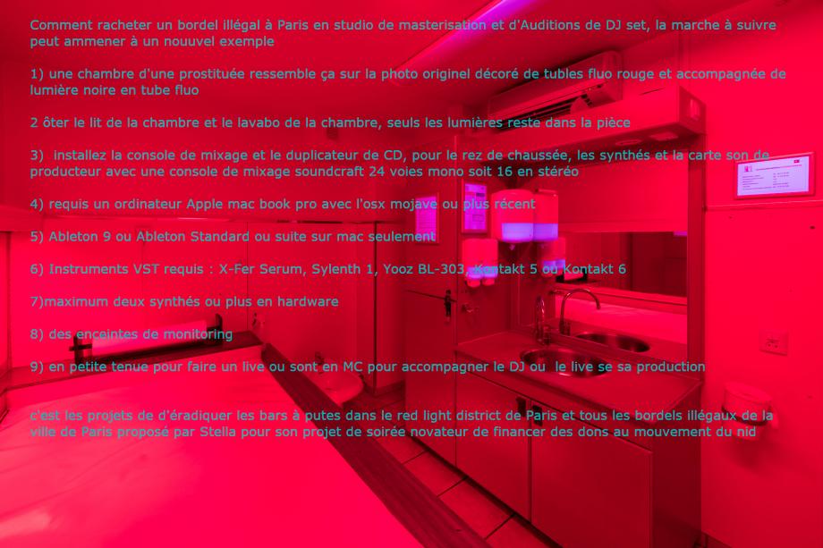 le plan anti-prostitution - une photo retouchée en notice de projet d'éradication du Red light district de Paris à Rue Lafayette dans le disrtrict de Pigalle