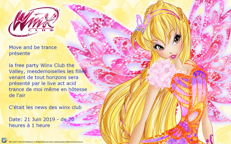 flyer winx club - Free Party winx club
