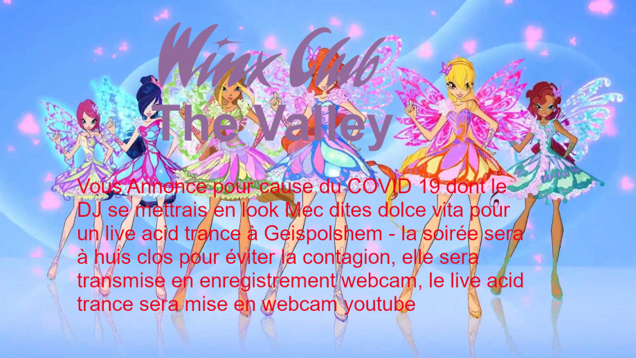 fond winx club the Valley - la source butterflix - flyer winx club