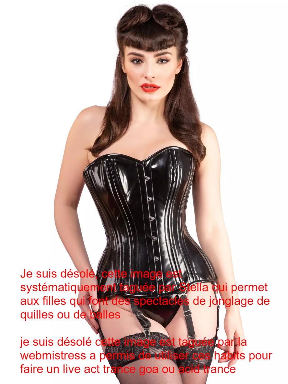 Image de mannnequin en tenue fétichiste sera immédiatement taguée veut dire non à la prostitution