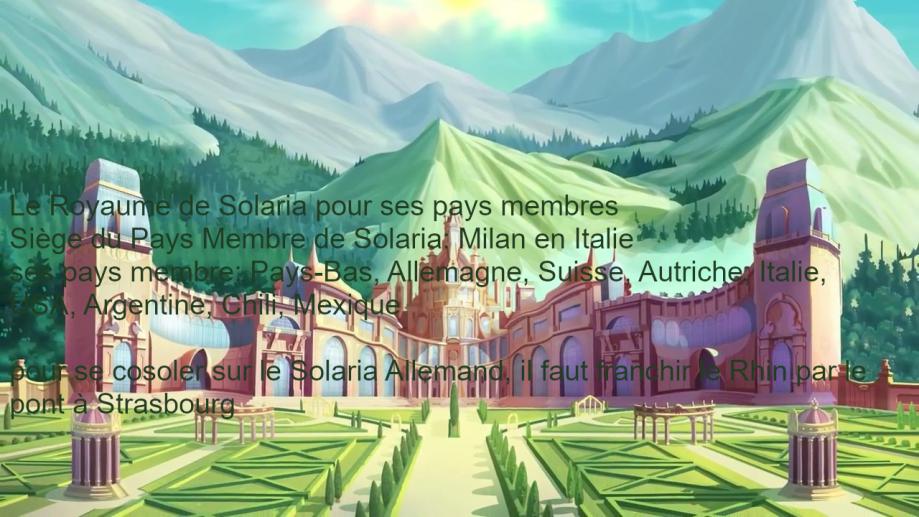 Solaria ( Pays-Bas - Allemagne - Suisse - Autriche - Italie - USA - Mexique - Argentine - Chili )