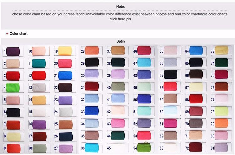 table des couleurs