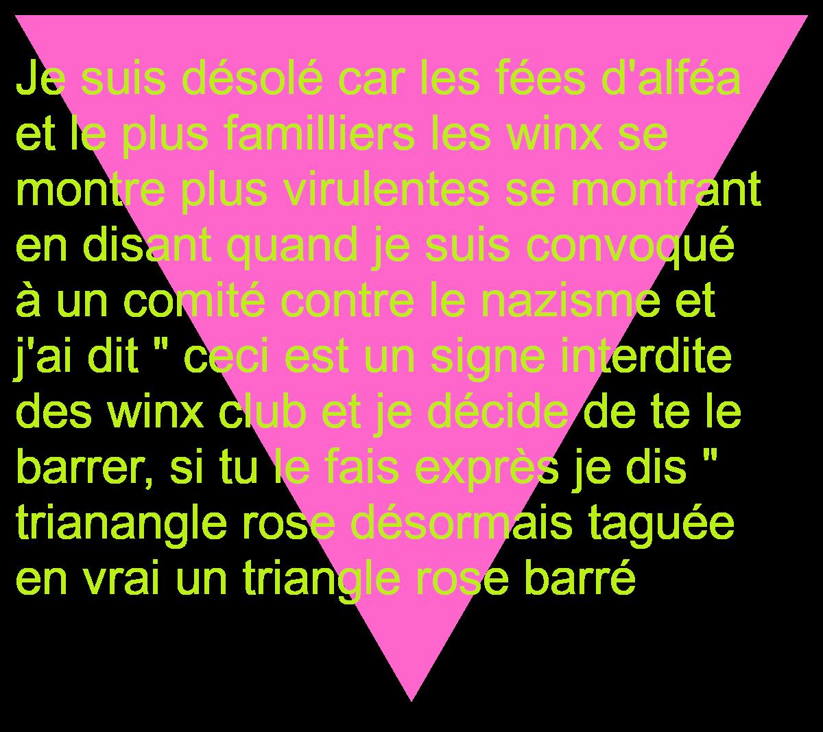 triangle rose barrée