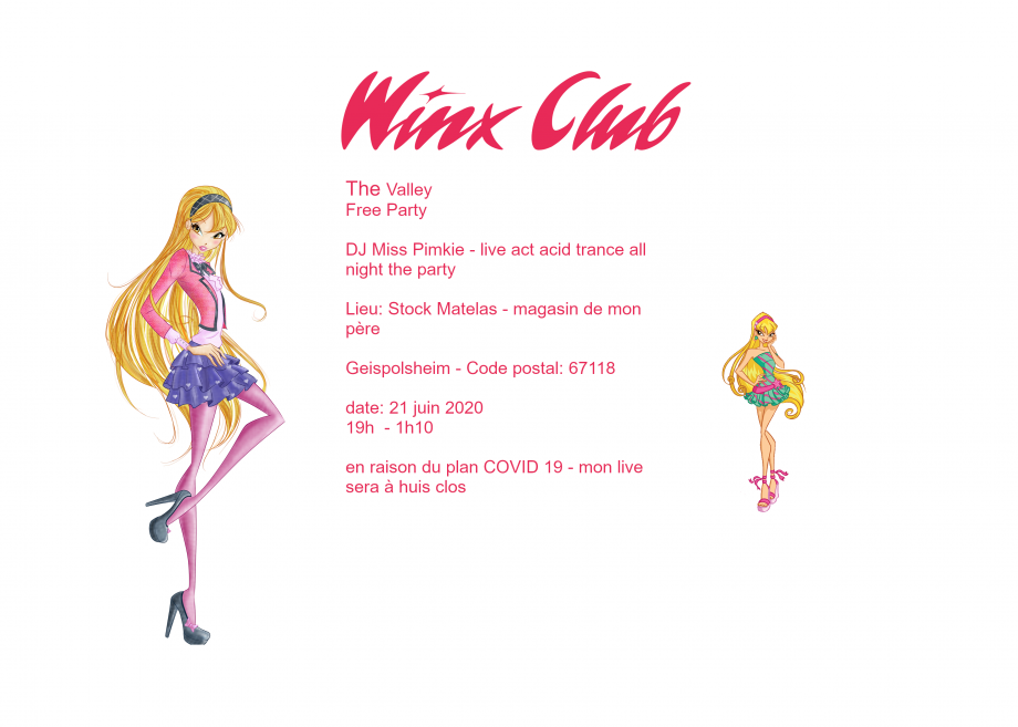Winx Club the Valley - le flyer