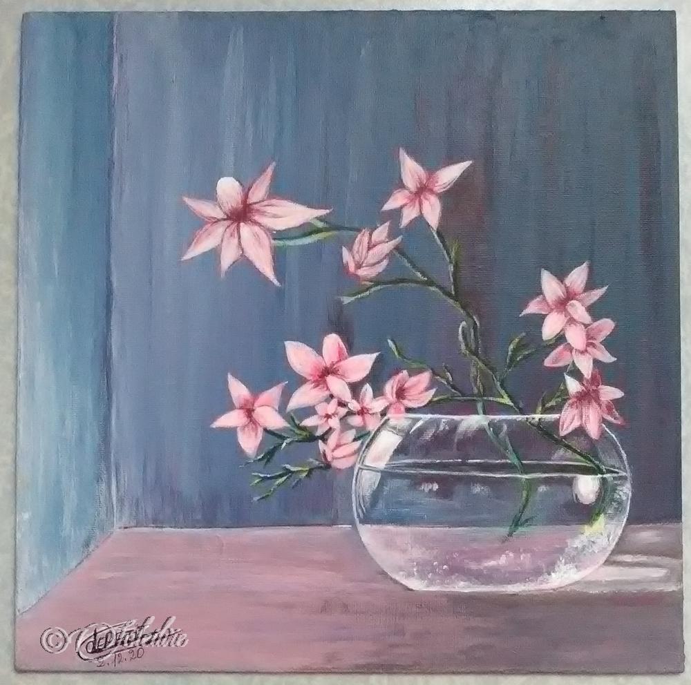 fleurs dans un vase blog