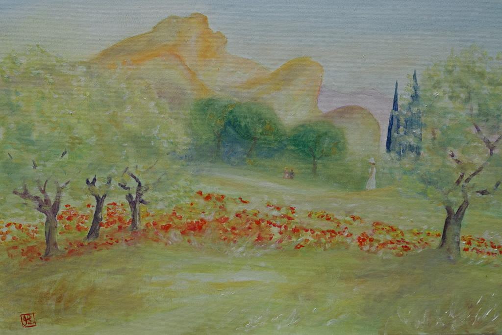 Paysage de Saint-Rémy, près de Saint-Paul de Mausole.