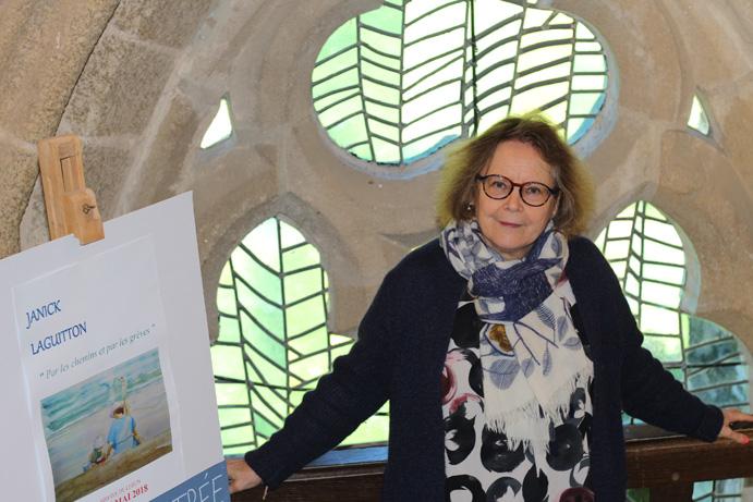 Exposition à l'Abbaye de Léhon 2018.