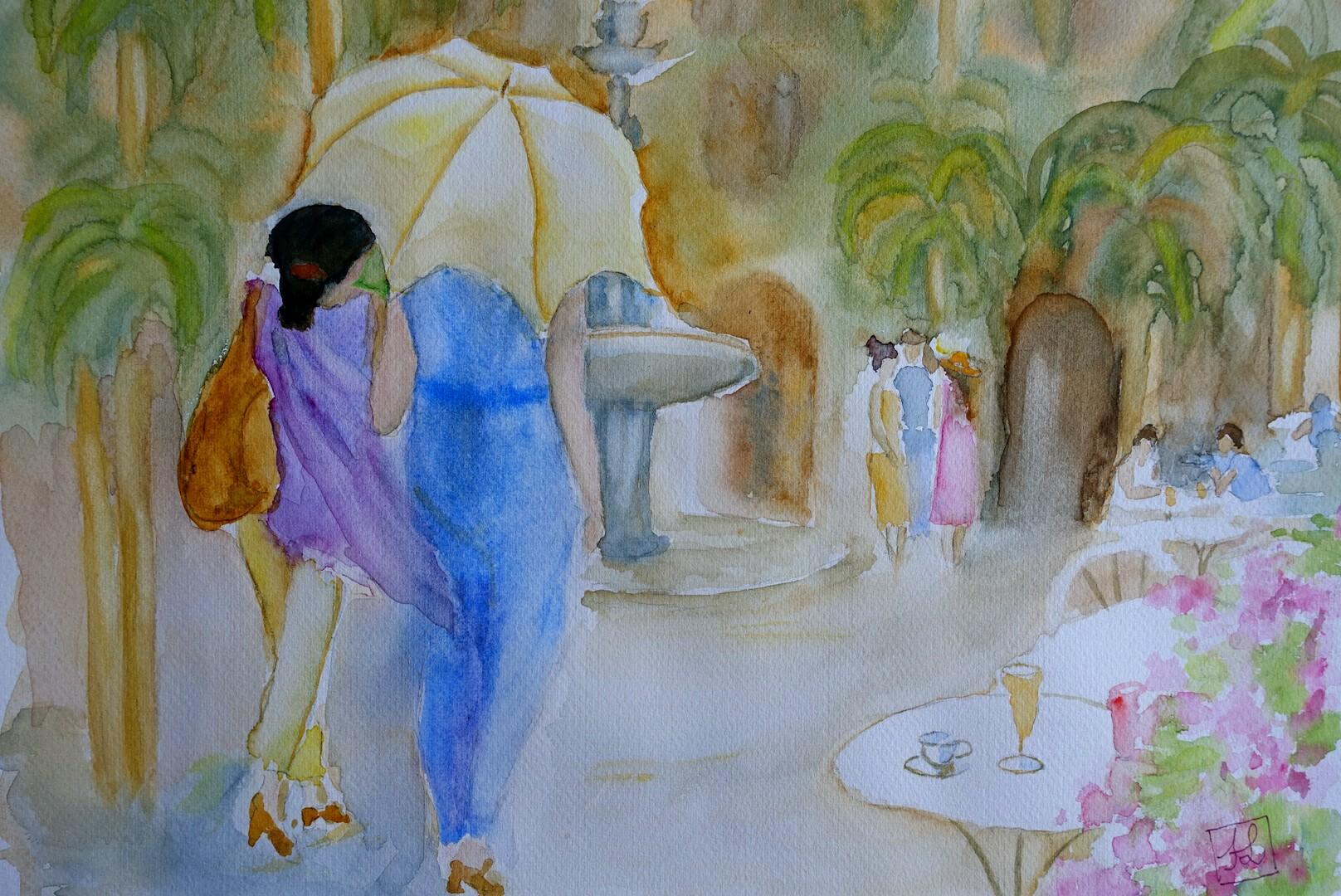 L'ombrelle, aquarelle. 2019