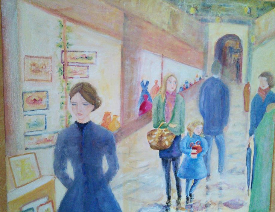 Le passage du Grand Cerf. Huile sur toile. 2017