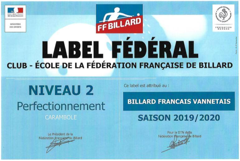 label fédéral