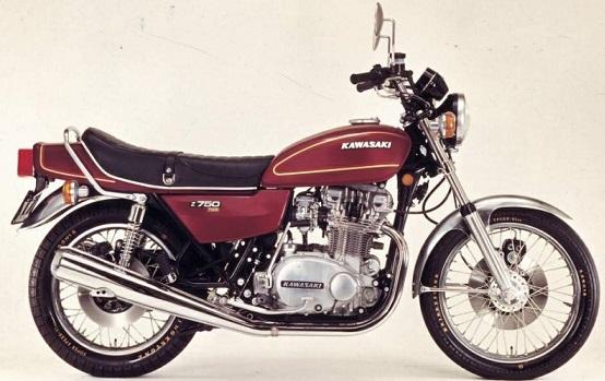 KAWASAKI KZ 750 T 1976 à 1984 Premier bicylindre double arbre de 750 cm3