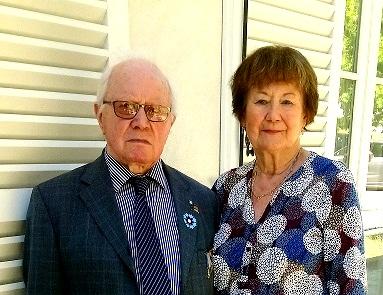 Yves, notre Président d'Honneur et son épouse Denyse.