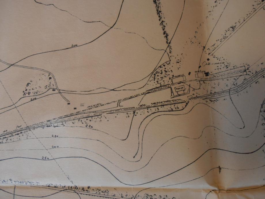 Plan cadastrale du puits de mine.