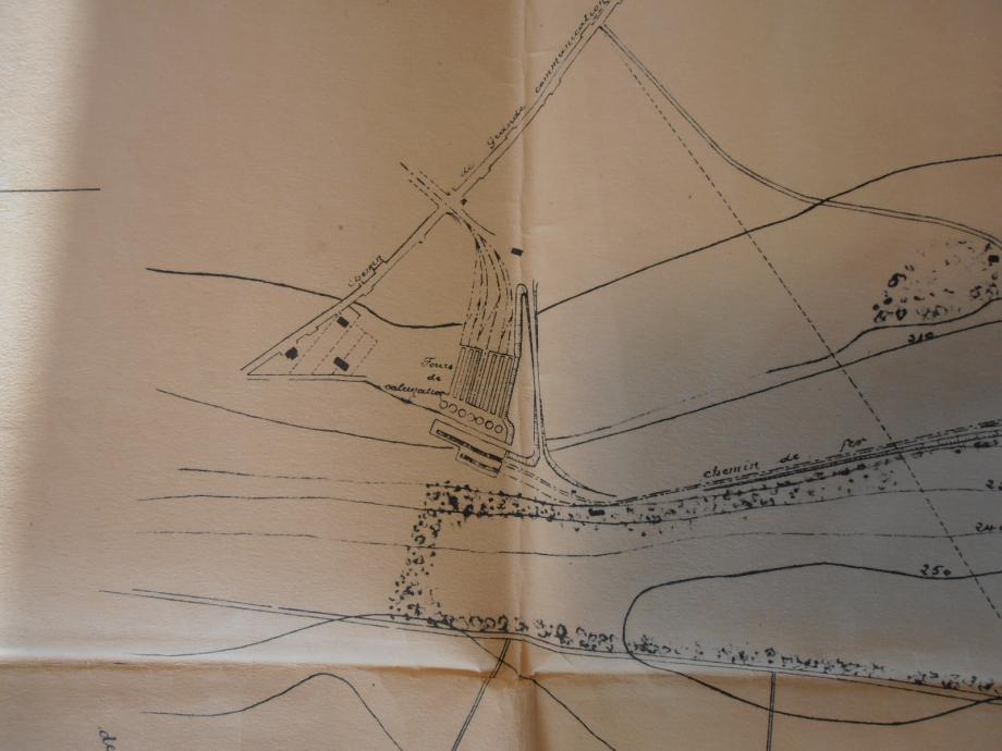 Site des fours de la Butte-Rouge. (représentation de la maquette)