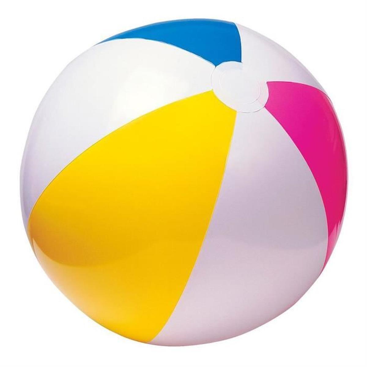 Ballon de plage multicolore Journée : 4 € Week-end : 6 €