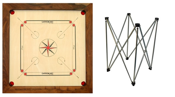 Carrom et trépied: