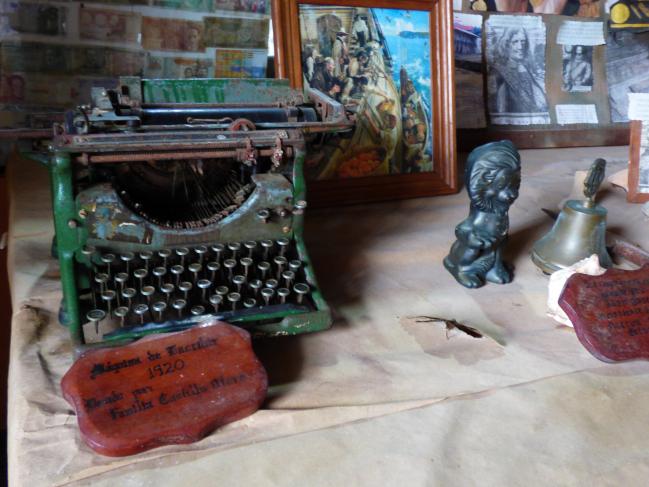 Vue dans un petit musée de Portobello au Panama