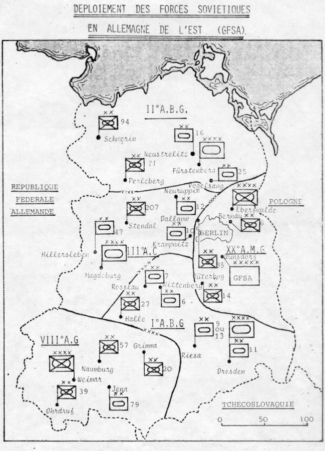 Oraganisation du GFSA en 1980