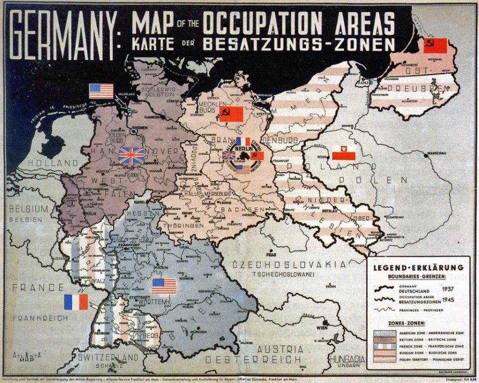 Carte des zones d'occupation