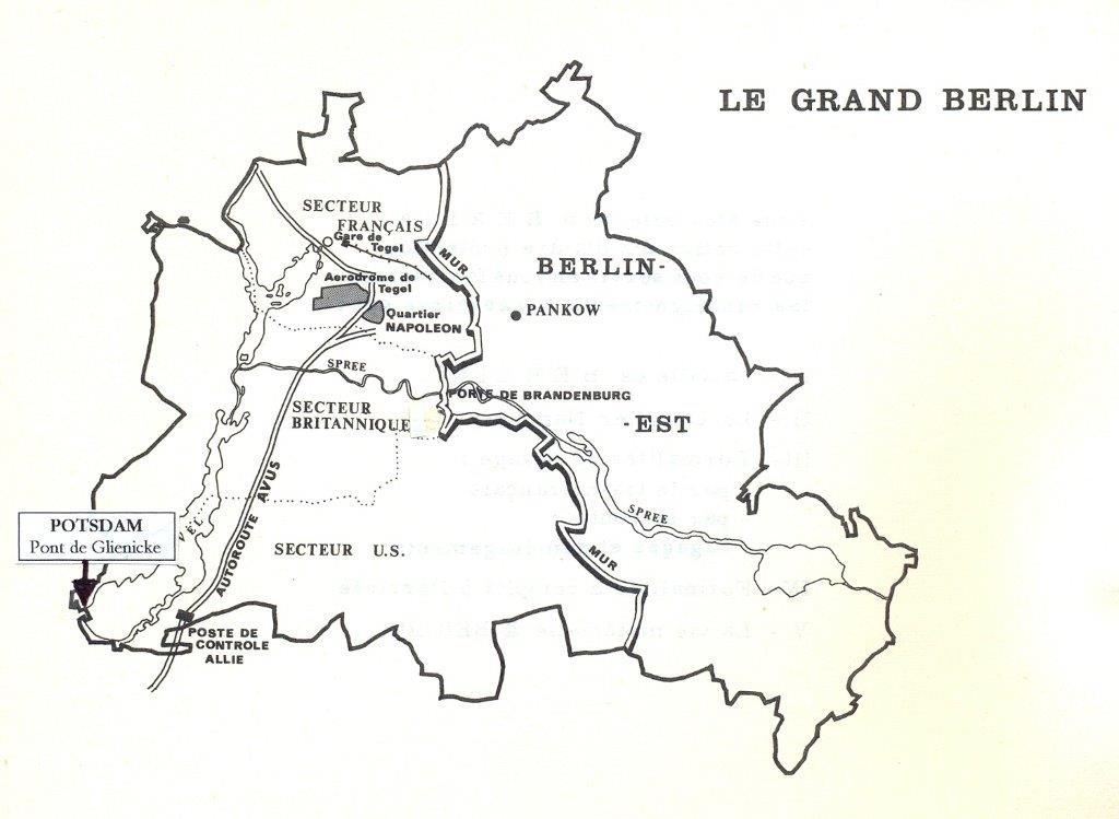 Trajet des équipagesde la MMFL  jusqu'au pont de glienicke et Potsdam