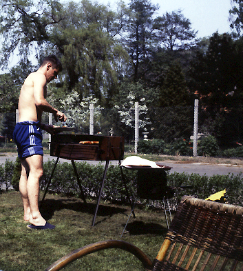 Sgt Chassery au barbecue