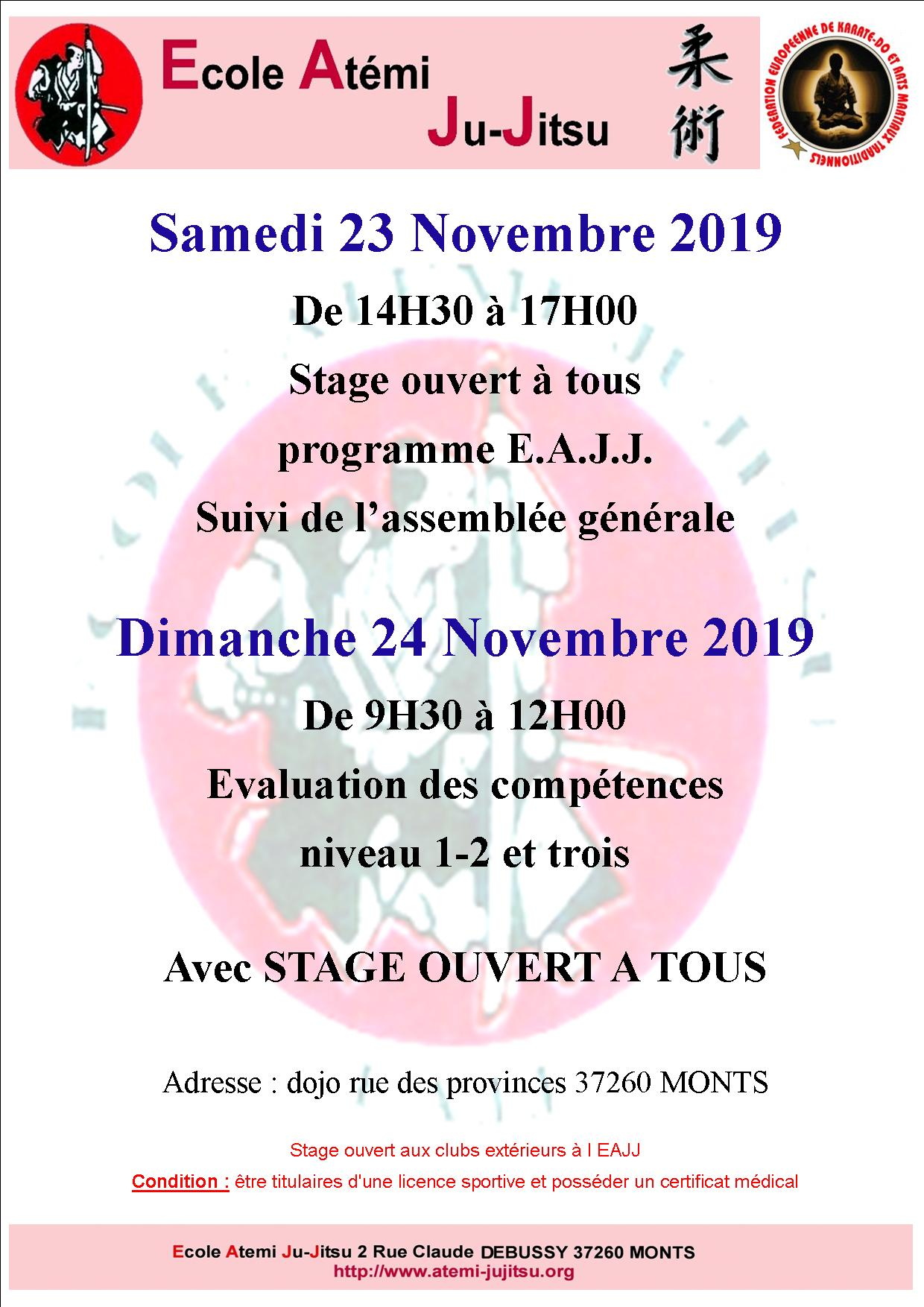 stage monts affiche