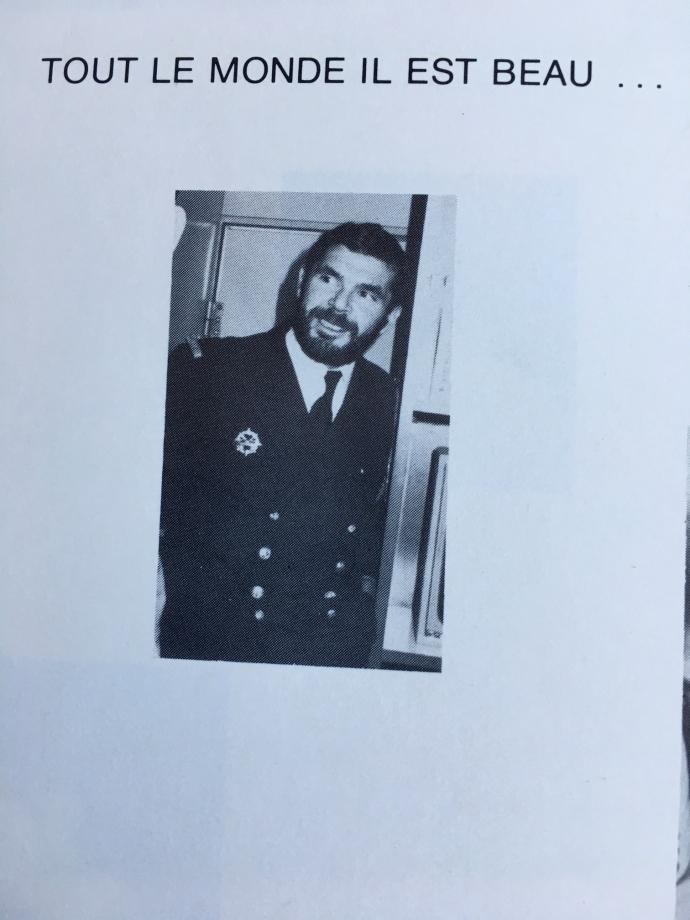Commandant en second sur le 3 ème SNLE Français : 1975