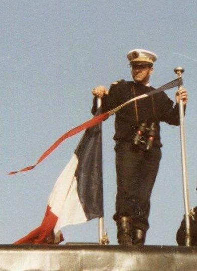 Géard Faugère , Dernier  CDT du S/M Dauphin ( 01.03.2019 ) = il nous quitte = Dur , dur !!!