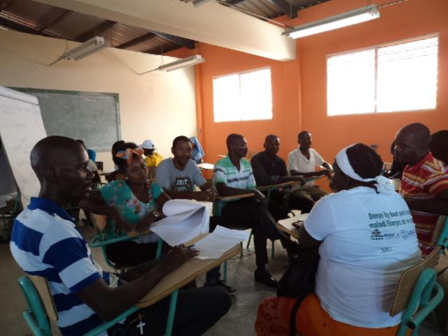 Groupe de travail de paysans pour une meilleure gestion de l'agriculture en Haïti