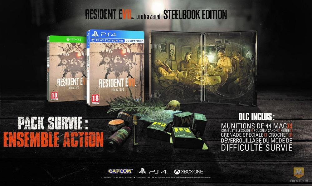 Edition Steelbook Resident Evil 7 Xbox One