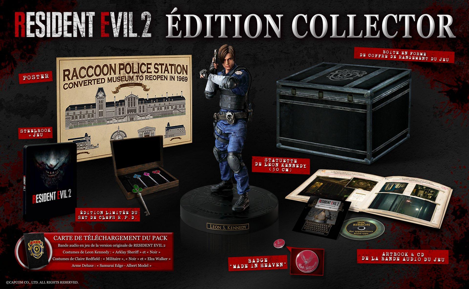 Contenu de l'Edition Collector Resident Evil 2
