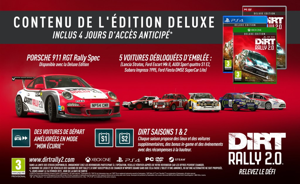 Steelbook Dirt Rally 2.0 - PS4 - Xbox One