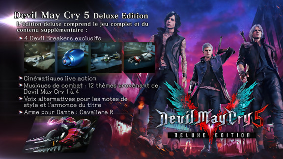 Contenu de l'Edition Deluxe de Devil May Cry 5