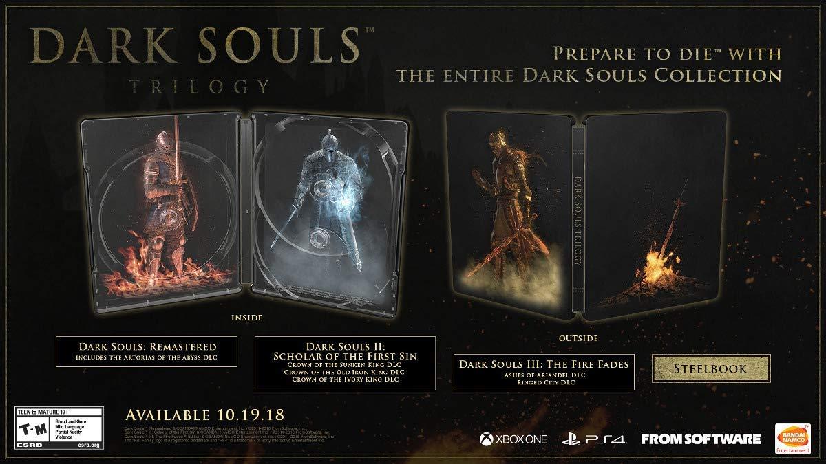 Steelbook Dark Souls Trilogy