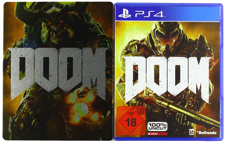 Le jeu DOOM sur PS4 + Le Steelbook