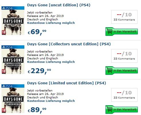 Days Gone Steelbook Edition Collector Limited Jeux Video SteelbookV FuturePa