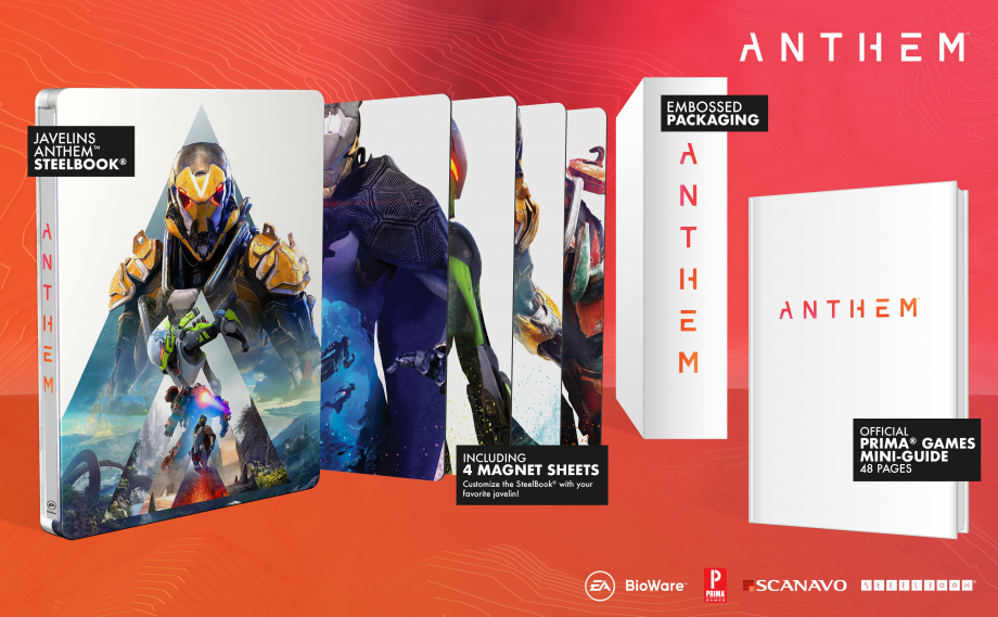 steelbookjeuxvideo steelbookV Anthem Guide Prima Scanavo Ps4 Xbox One
