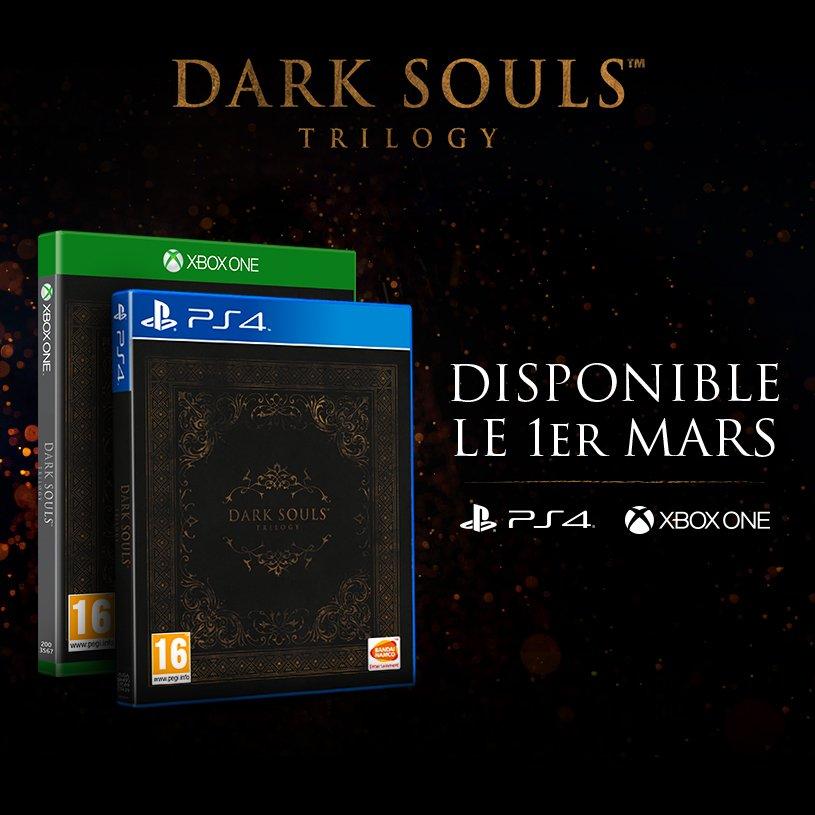 Dark Souls Trilogy pour l'Europe ... mais sans Steelbook !