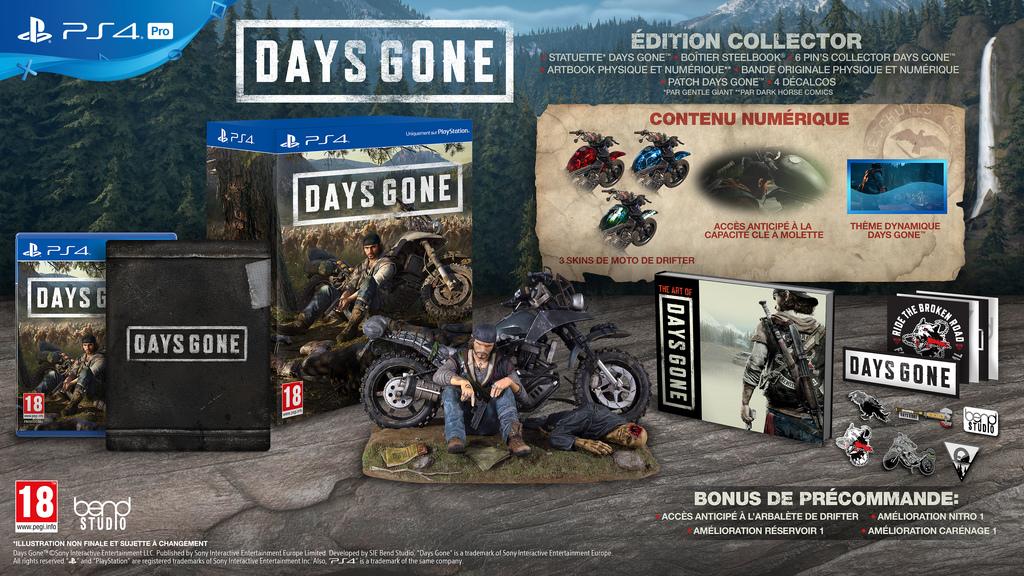 Days Gone Edition Collector Edition Spéciale Steelbook FuturePak Steelbook Jeux Video SteelbookV