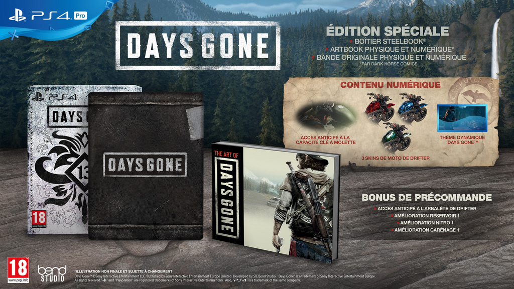 Days Gone Edition Collector Edition Spéciale Steelbook FuturePak Steelbook Jeux Video SteelbookV