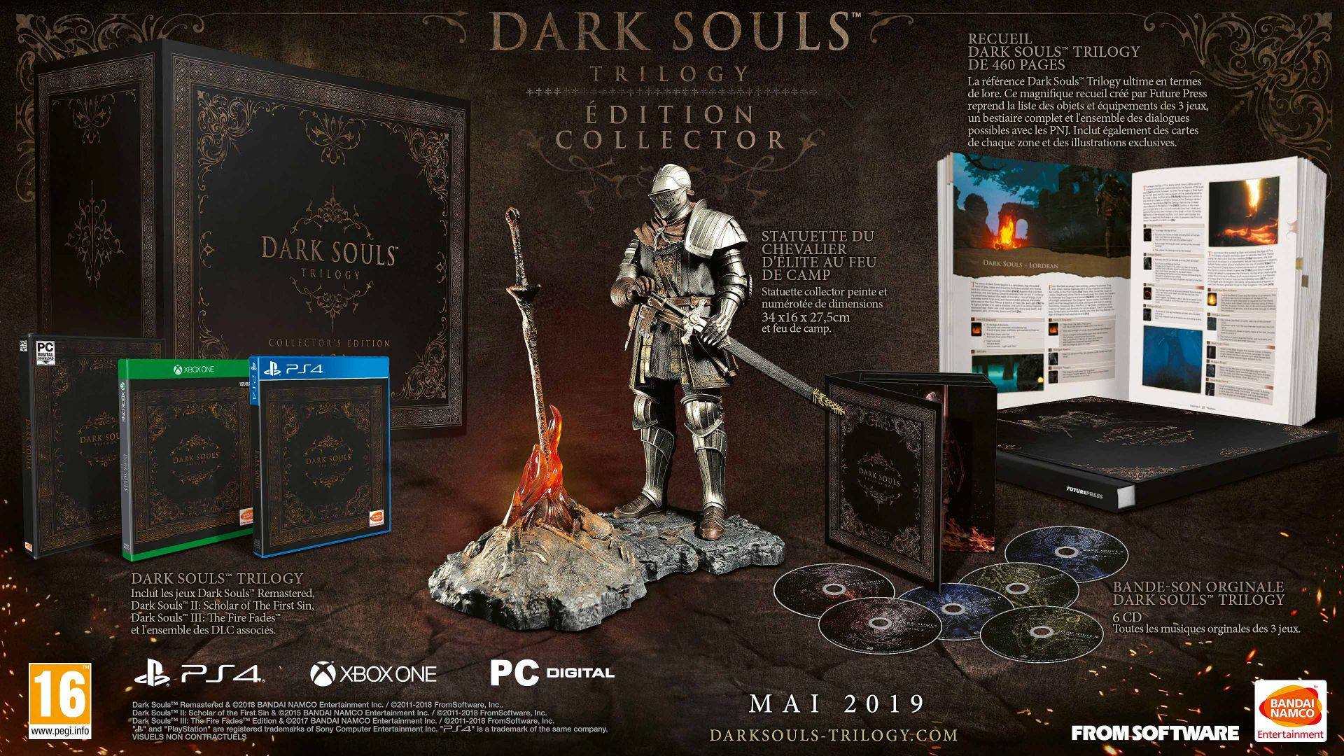 Edition Collector Dark Souls Trilogy Steelbook Futurepak