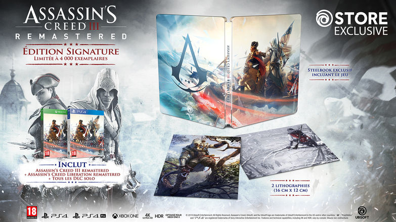 Assassin's Creed III Remastered Signature Edition Steelbook FuturePak Edition Collector Limited SteelbookV SteelbookJeuxVideo Steelbookcollection Steelbookcollector Steelbookaddict PS4 XboxOne