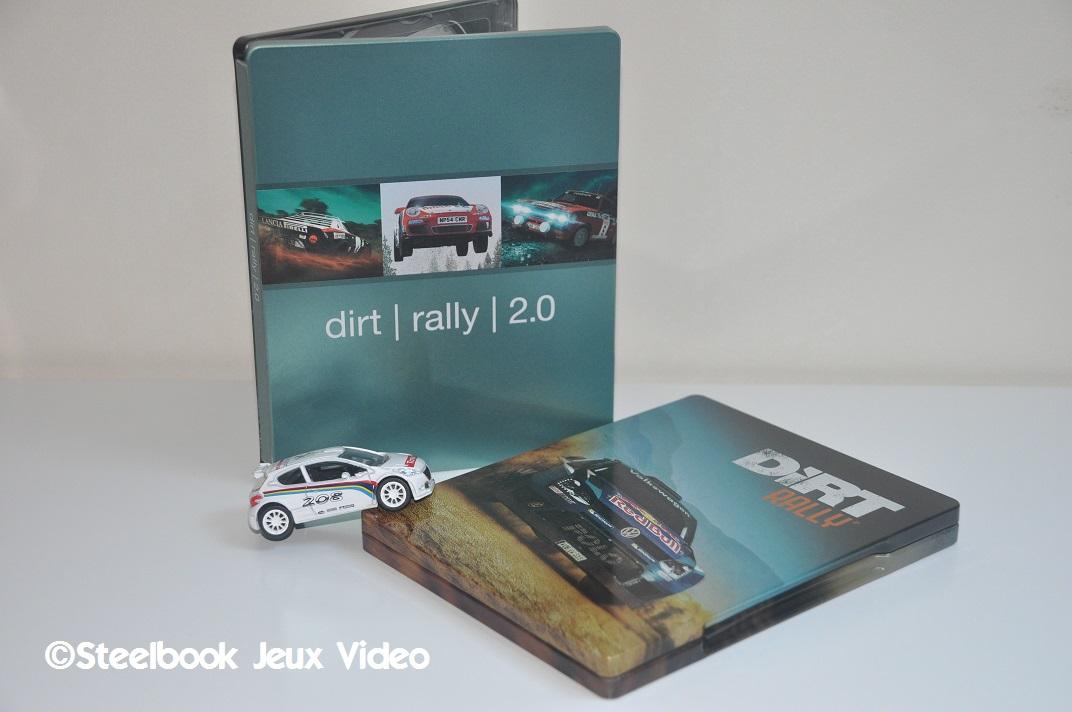 Le Steelbook à plat est celui du 1er Dirt Rally