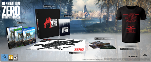 Contenu de l'Edition Collector du jeu Generation ZERO