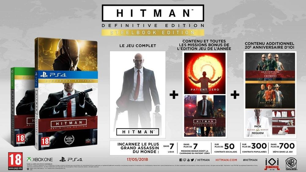 Hitman 1 Definitive Edition Steelbook